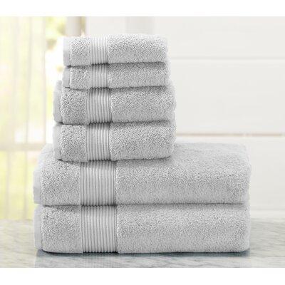Paper Street 6 Piece Towel Set Color: Glacier Gray