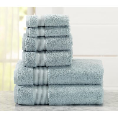 Paper Street 6 Piece Towel Set Color: Cloud Blue