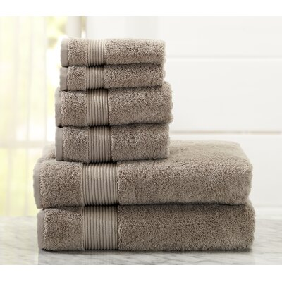 Paper Street 6 Piece Towel Set Color: Marble Tan