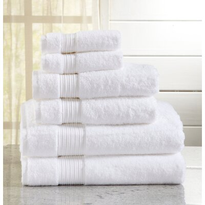Highland Rim 6 Piece Towel Set Color: Optic White