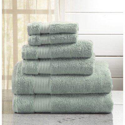Highland Rim 6 Piece Towel Set Color: Tourmaline