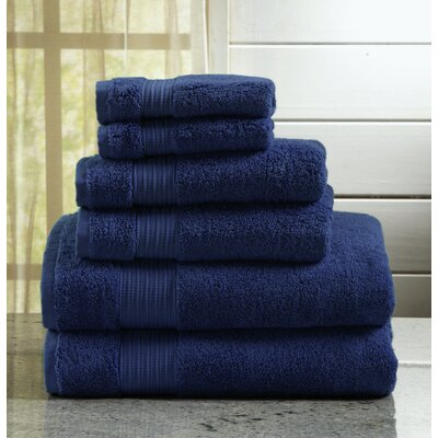 Highland Rim 6 Piece Towel Set Color: Estate Blue