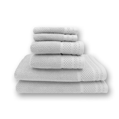 Concourse 6 Piece Towel Set Color: Optic White