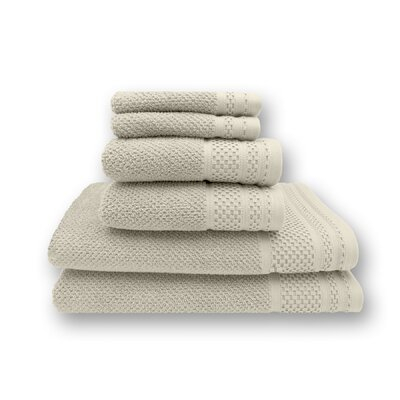 Concourse 6 Piece Towel Set Color: Ivory