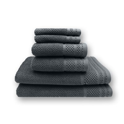 Concourse 6 Piece Towel Set Color: Dark Gray