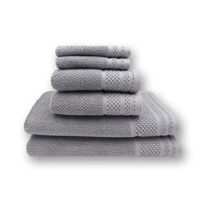 Concourse 6 Piece Towel Set Color: Ash Gray