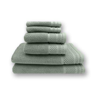 Concourse 6 Piece Towel Set Color: Seafoam Green