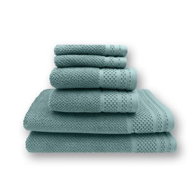Concourse 6 Piece Towel Set Color: Aquifer
