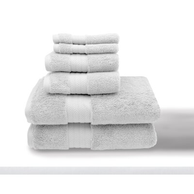 Leister 6 Piece Towel Set Color: White