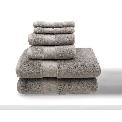 Leister 6 Piece Towel Set Color: Silver Gray