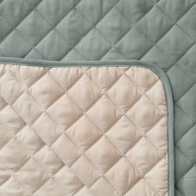 Reversible Quilted Box Cushion Recliner Slipcover Upholstery: Storm Gray