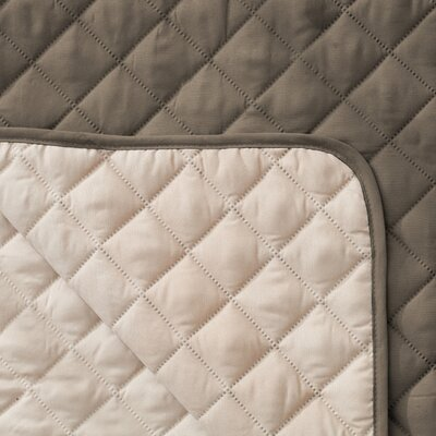 Reversible Quilted Box Cushion Recliner Slipcover Upholstery: Fossil Brown