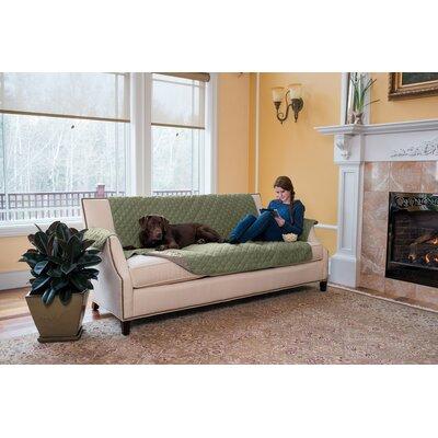 Box Cushion Sofa Slipcover Upholstery: Tea Green