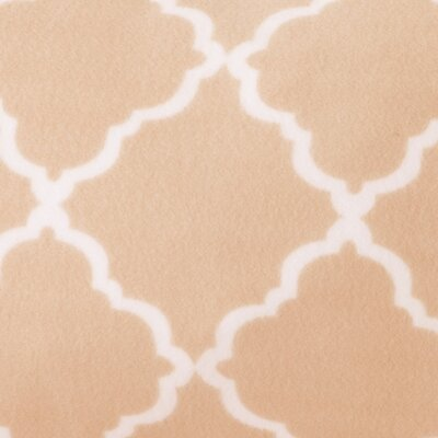 Hillyard Super Soft Cloud Lattice Fleece Flannel Sheet Set Size: Full/Double, Color: Blush Pink