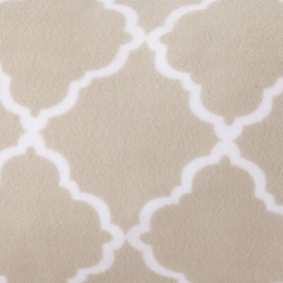Hillyard Super Soft Cloud Lattice Fleece Flannel Sheet Set Size: Full/Double, Color: Taupe