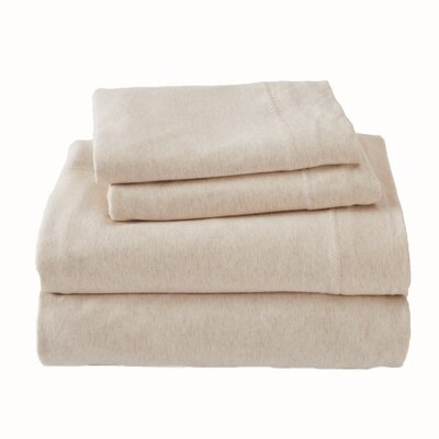 Matula Super Soft Jersey Sheet Set Size: Queen, Color: Charcoal