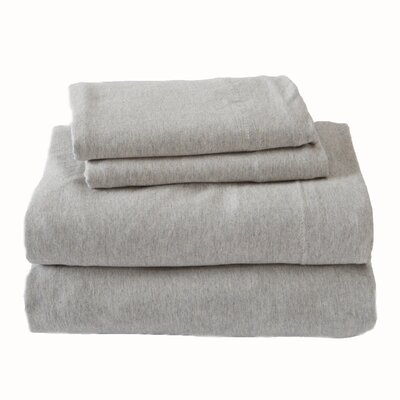 Matula Super Soft Jersey Sheet Set Size: King, Color: Light Gray