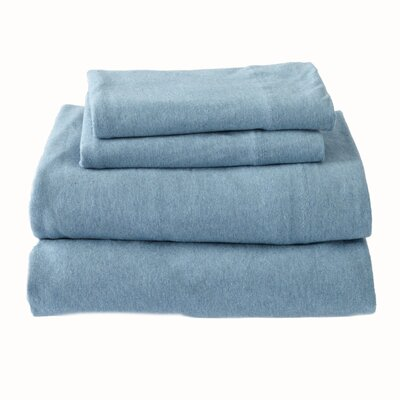 Matula Super Soft Jersey Sheet Set Size: Queen, Color: Ocean Blue