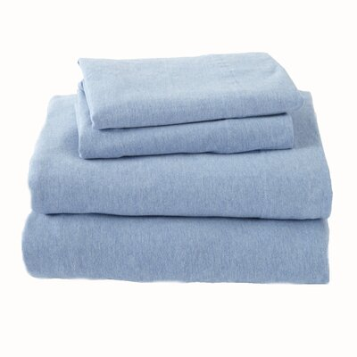 Matula Super Soft Jersey Sheet Set Size: Full/Double, Color: Sky Blue
