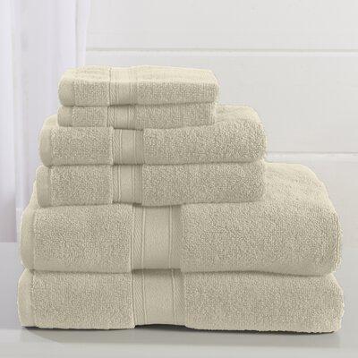 Jonas 6 Piece Towel Set Color: Ivory