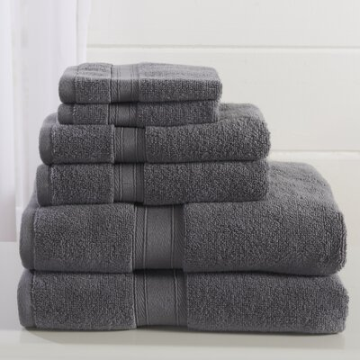 Jonas 6 Piece Towel Set Color: December Sky Gray
