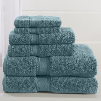 Jonas 6 Piece Towel Set Color: Oil Blue