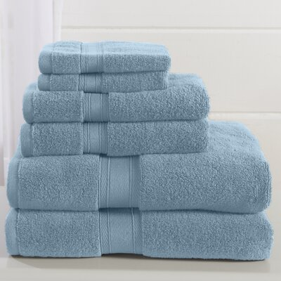 Jonas 6 Piece Towel Set Color: Porcelain Blue