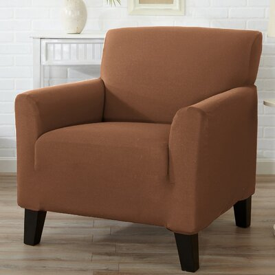 Box Cushion Armchair Slipcover Upholstery: Toffee