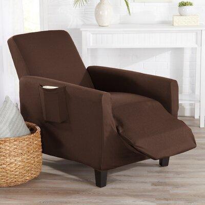 Box Cushion Recliner Slipcover Upholstery: Mocha