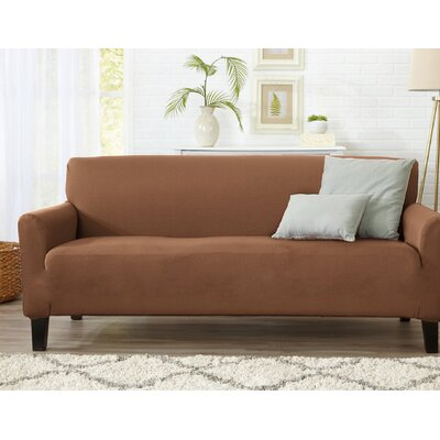 T-Cushion Sofa Slipcover Upholstery: Toffee