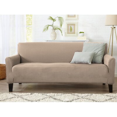 T-Cushion Sofa Slipcover Upholstery: Tan