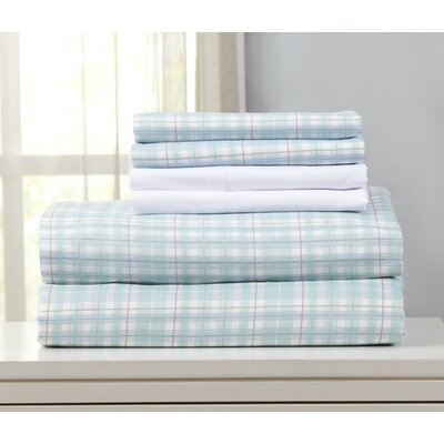 Acadia Microfiber Sheet Set Size: Full, Color: Harbor