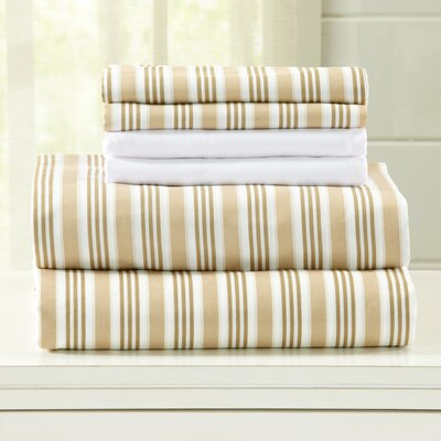 Hanley Microfiber  Sheet Set Size: Twin, Color: Beige
