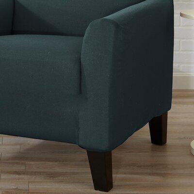 Box Cushion Sofa Slipcover Color: Mirage Blue