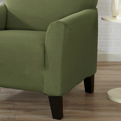Box Cushion Sofa Slipcover Color: Tea Green