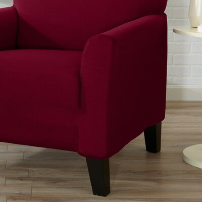 Box Cushion Sofa Slipcover Color: Tawny Port Red
