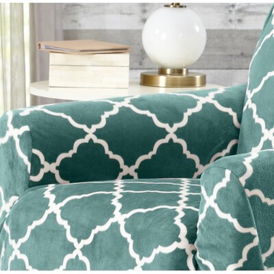 T-Cushion Recliner Slipcover Color: Aqua