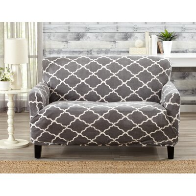 T-Cushion Loveseat Slipcover Color: Gray