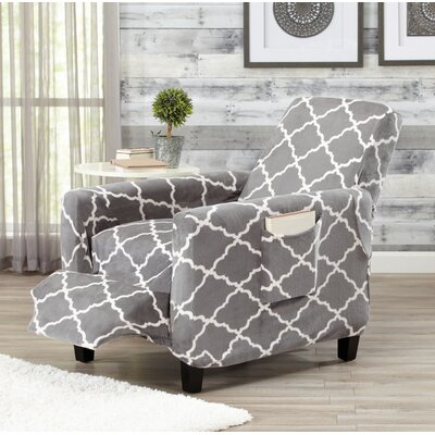 T-Cushion Recliner Slipcover Color: Gray
