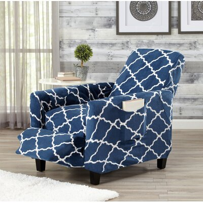 T-Cushion Recliner Slipcover Color: Navy