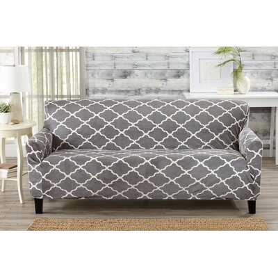 T-Cushion Sofa Slipcover Color: Gray