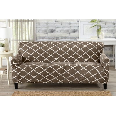 Box Cushion Sofa Slipcover Color: Walnut Brown