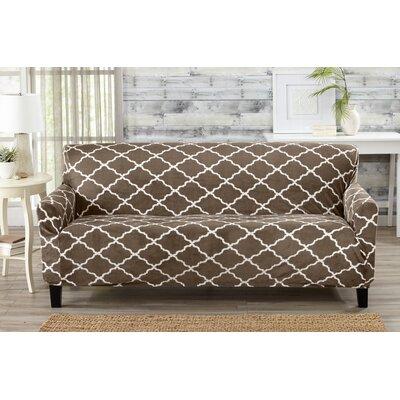 T-Cushion Sofa Slipcover Color: Walnut Brown