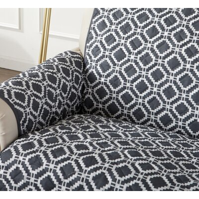 Box Cushion Sofa Slipcover Color: Steel Gray