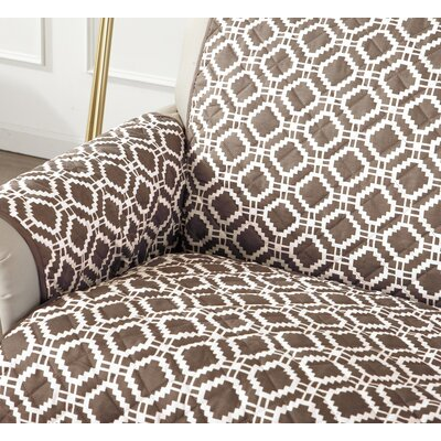 Box Cushion Armchair Slipcover Color: Fossil Brown