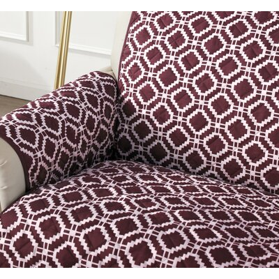 Box Cushion Recliner Slipcover Color: Oxblood Red