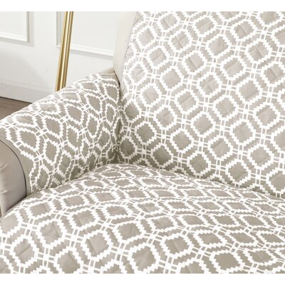 Box Cushion Sofa Slipcover Color: Silver Cloud