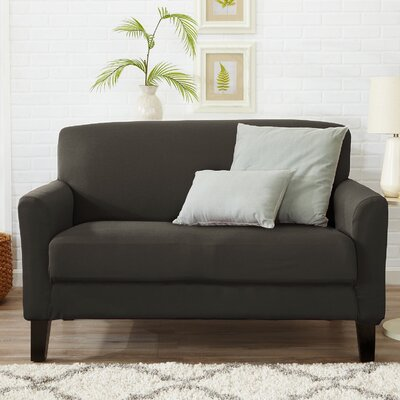 Box Cushion Loveseat Slipcover Color: Cloudburst Gray