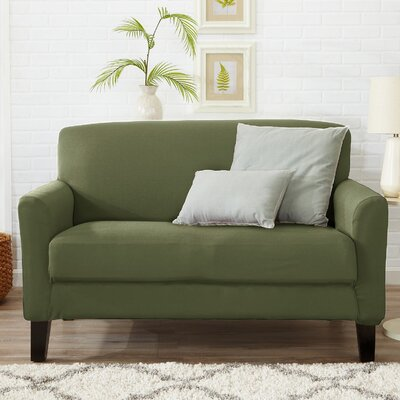 Box Cushion Loveseat Slipcover Color: Tea Green