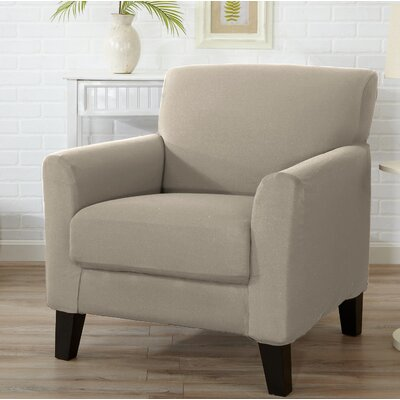 T-Cushion Armchair Slipcover Color: Silver Cloud